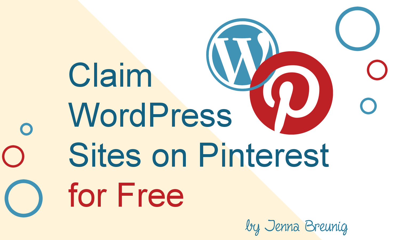 claim wordpress sites on pinterest for free